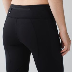Lululemon Pace Rival Crop Black Leggings Pants